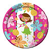 DISCONTINUED PINK LUAU FUN DINNER PLATE PARTY SUPPLIES