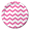 CHEVRON/DOTS-CANDY PINK DINNER PLATES PARTY SUPPLIES