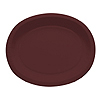CHOCOLATE BROWN OVAL PAPER PLATTER PARTY SUPPLIES