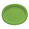 LIME PAPER OVAL PLATTERS (96/CS) PARTY SUPPLIES