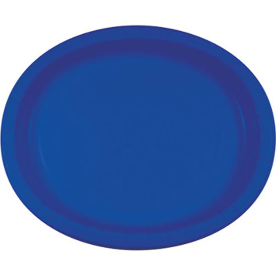 Click for larger picture of COBALT OVAL PLATTER 10X12 INCH PARTY SUPPLIES