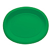 GREEN OVAL PAPER PLATTER PARTY SUPPLIES
