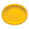 GOLDEN YELLOW PAPER OVAL PLATTERS (96/CS PARTY SUPPLIES