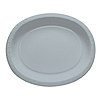 SILVER OVAL PAPER PLATTER PARTY SUPPLIES