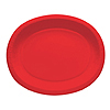 RED OVAL PAPER PLATTER PARTY SUPPLIES