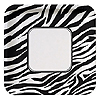 ANIMAL PRINT - ZEBRA BANQUET PLATE PARTY SUPPLIES