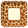 ANIMAL PRINT - GIRAFFE BANQUET PLATE PARTY SUPPLIES