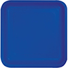 COBALT 7 INCH SQUARE PAPER PLATE PARTY SUPPLIES
