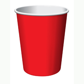 RED 9OZ HOT/COLD CUP (24CT.) PARTY SUPPLIES