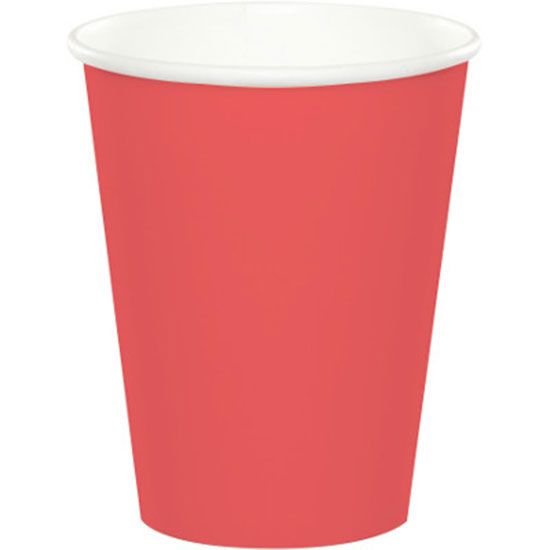 CORAL HOT-COLD CUP 9 OZ PARTY SUPPLIES