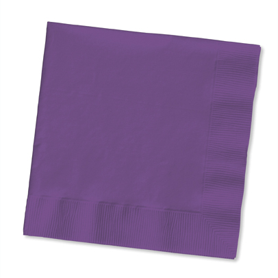 Click for larger picture of PURPLE LUNCHEON NAPKIN (50 CT.) PARTY SUPPLIES