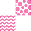 CHEVRON/DOTS-CANDY PINK BEVERAGE NAPKIN PARTY SUPPLIES