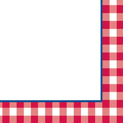 Click for larger picture of DISCONTINUED GINGHAM FUN BEV NAPKIN PARTY SUPPLIES