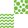 CHEVRON/DOTS-LIME BEVERAGE NAPKIN PARTY SUPPLIES