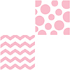 DISCONTINUED CHEVRON/DOTS-PINK BEV NAP PARTY SUPPLIES