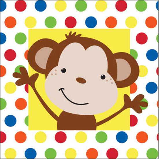 DISCONTINUED FUN MONKEY BEVERAGE NAPKIN PARTY SUPPLIES
