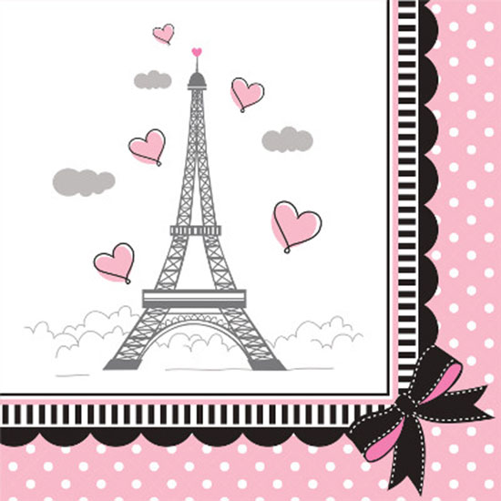 PARTY IN PARIS BEVERAGE NAPKIN PARTY SUPPLIES