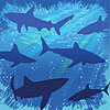 SHARK SPLASH BEVERAGE NAPKIN PARTY SUPPLIES