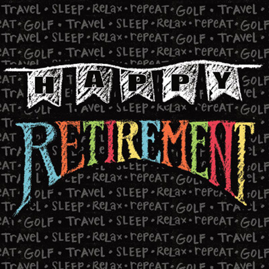 RETIREMENT CHALK BEVERAGE NAPKIN PARTY SUPPLIES