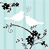 DISCONTINUED TWO LOVE BIRDS BEV NAPKIN PARTY SUPPLIES