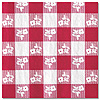 RED GINGHAM BEVERAGE NAPKIN (216/CS) PARTY SUPPLIES