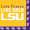 LSU LUNCH NAP (240/PKG) PARTY SUPPLIES