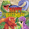 DINO BLAST LUNCH NAPKIN- HAPPY BIRTHDAY PARTY SUPPLIES