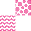 CHEVRON/DOTS-CANDY PINK LUNCH NAPKIN PARTY SUPPLIES