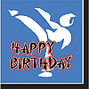 BLACK BELT HAPPY BDAY LUNCH NAPKIN PARTY SUPPLIES