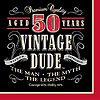 VINTAGE DUDE 50 LUNCH NAPKINS PARTY SUPPLIES