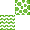CHEVRON/DOTS-LIME LUNCH NAPKIN PARTY SUPPLIES