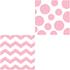 DISCONTINUED CHEVRON/DOTS-PINK LUNCH NAP PARTY SUPPLIES