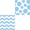 DISCONTINUED CHEVRON/DOTS-LT BL LUNCH NP PARTY SUPPLIES