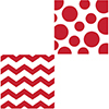 CHEVRON/DOTS-RED LUNCH NAPKIN PARTY SUPPLIES