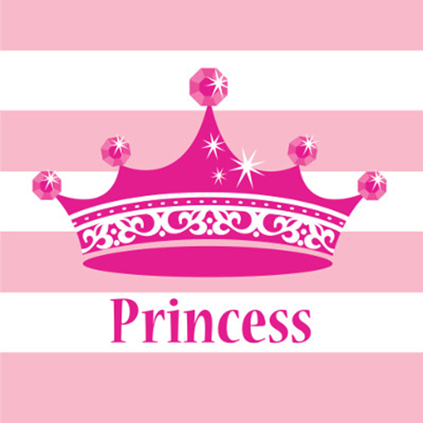 Click for larger picture of PINK PRINCESS ROYALTY LUNCH NAPKINS PARTY SUPPLIES