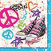 DISCONTINUED GIRLS ROCK 80'S LUNCH NAPK PARTY SUPPLIES