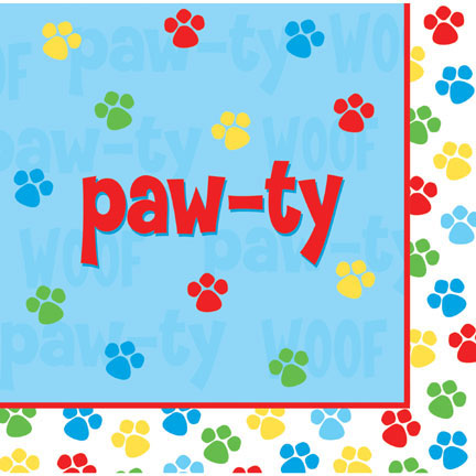 Click for larger picture of PAW-TY TIME! LUNCH NAP PAW-TY PARTY SUPPLIES