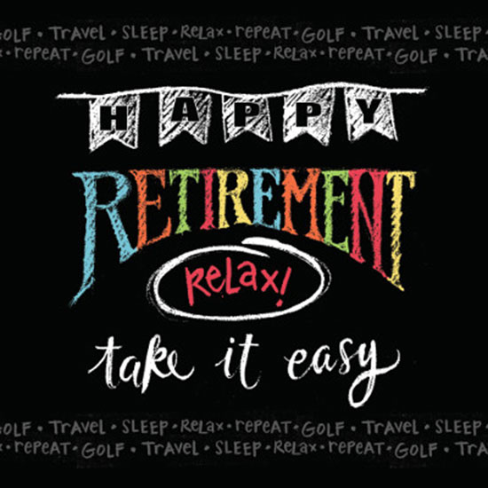 RETIREMENT CHALK LUNCH NAPKIN PARTY SUPPLIES