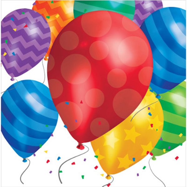 BALLOON BLAST LUNCH NAPKIN PARTY SUPPLIES