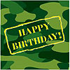CAMO GEAR LUNCH NPK HPY BDAY(192/CS) PARTY SUPPLIES