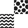 DISCONTINUED CHEVRON/DOTS-BLCK LUNCH NAP PARTY SUPPLIES