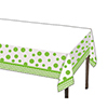 CHEVRON/DOTS-LIME TABLECOVER PARTY SUPPLIES