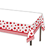 DISCONTINUED CHEVRON/DOTS-RED TABLECOVER PARTY SUPPLIES
