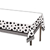 DISCONTINUED CHEVRON/DOTS-BLACK TABLECVR PARTY SUPPLIES
