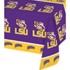 LSU PLASTIC TABLECOVER (12/PKG) PARTY SUPPLIES