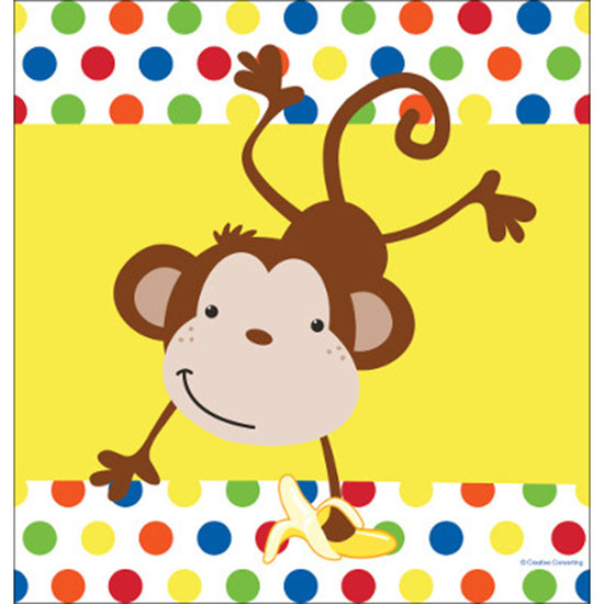DISCONTINUED FUN MONKEY TABLECOVER PARTY SUPPLIES
