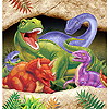 DINO BLAST PLASTIC TABLECOVER PARTY SUPPLIES