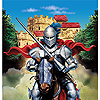 DISCONTINUED VALIANT KNIGHT TABLECOVER PARTY SUPPLIES