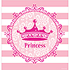 PINK PRINCESS ROYALTY TABLECOVER (12/CS) PARTY SUPPLIES