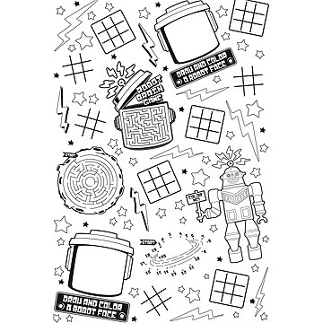 Click for larger picture of DISCONTINUED PARTY 'BOTS TBLCVR ACTIVITY PARTY SUPPLIES